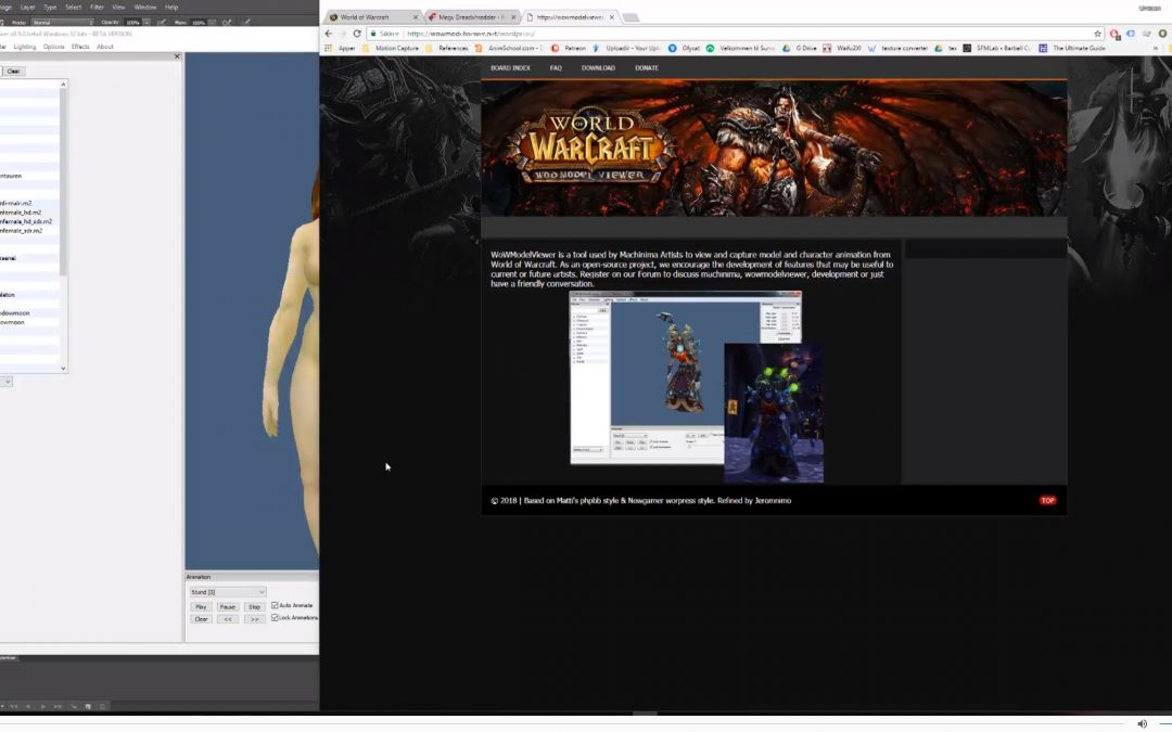 Downloading wow models